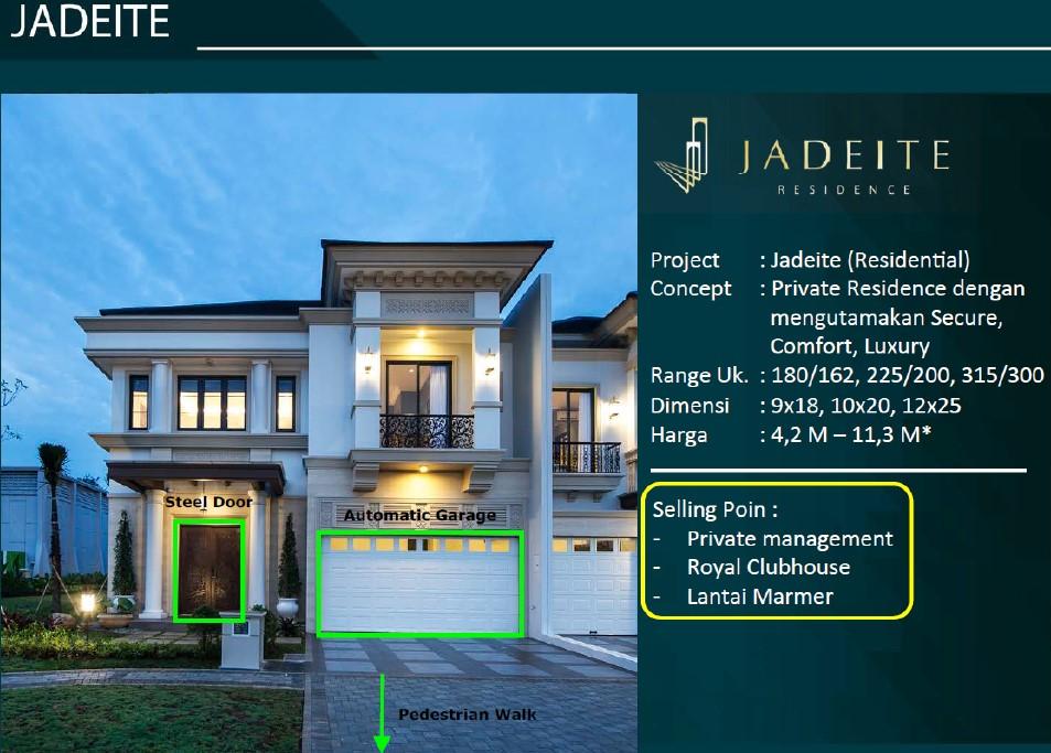 private cluster jadeite residence bsd city