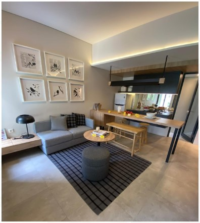 Invensihaus bsd city rumah modern furnished